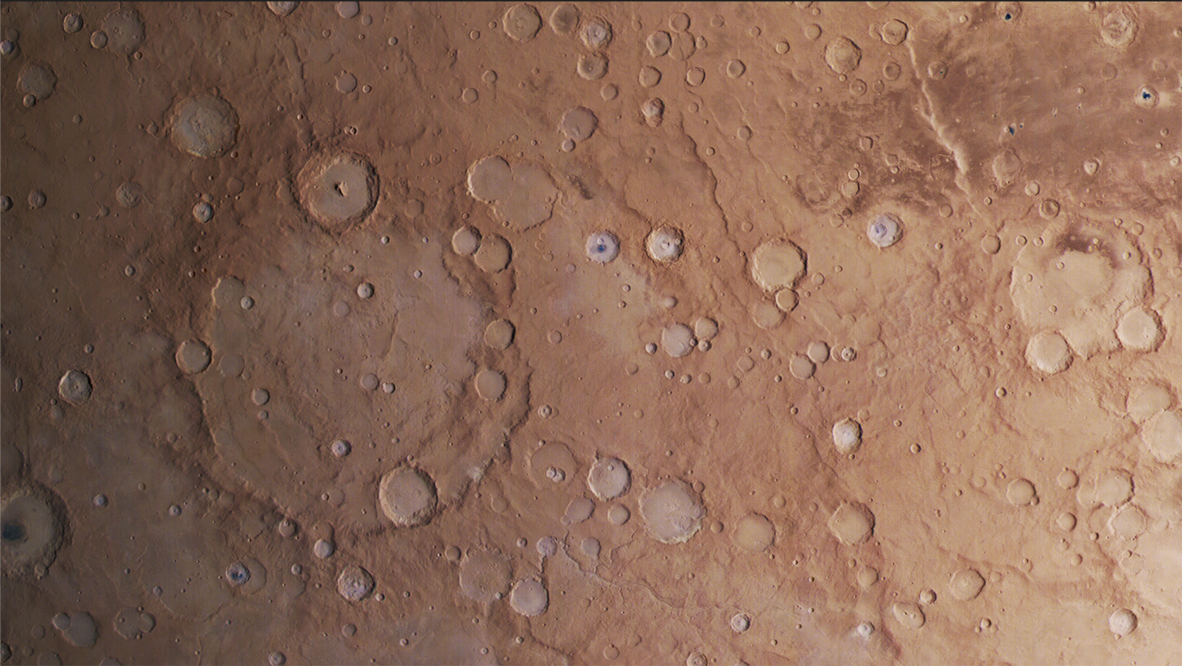 Mars Express view of craters
