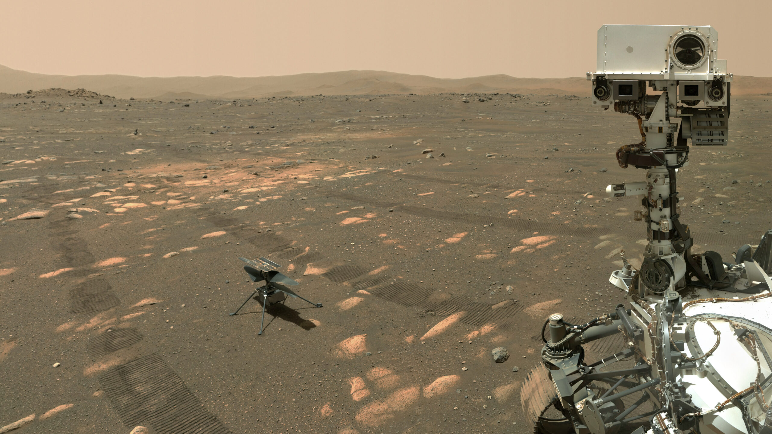 Perseverance and Ingenuity on Mars