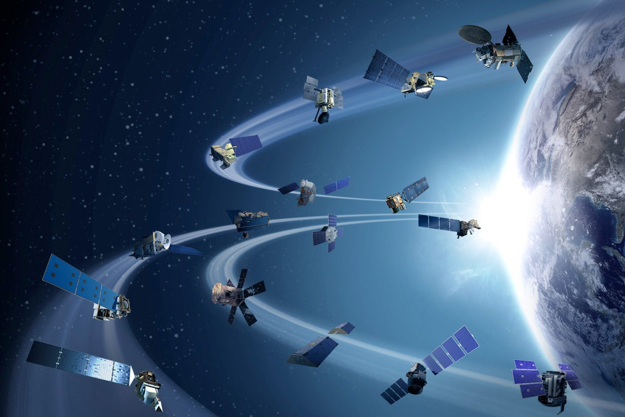 NASA satellites in Earth orbit